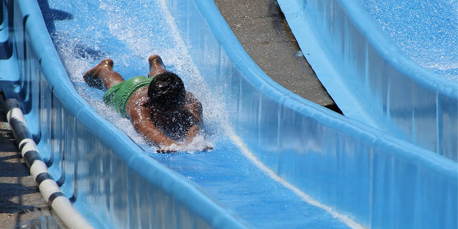 toboganes para piscinas segunda mano