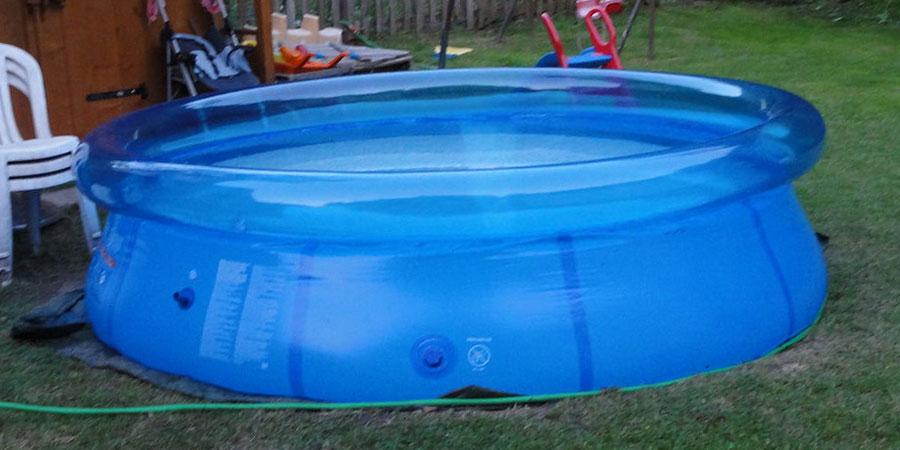 como limpiar piscina desmontable para guardar