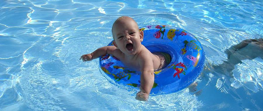 normas de seguridad en la piscina para niños